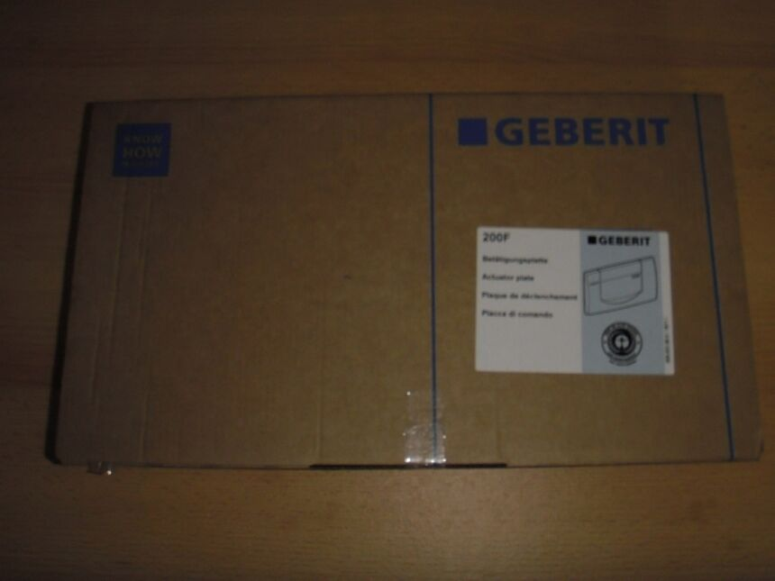 neu geberit bet tigungsplatte 200f in wei ebay. Black Bedroom Furniture Sets. Home Design Ideas